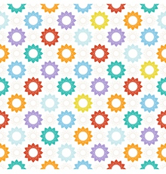 Seamless pattern with colorful geometric elements vector image vector image