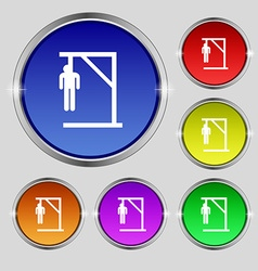 Suicide concept icon sign round symbol on bright vector