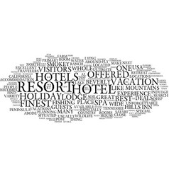 The best five hotels of usa text background word vector