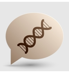 The dna sign brown gradient icon on bubble with vector