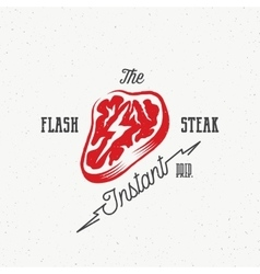 The flash instant steak abstract retro vector