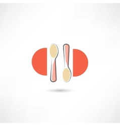 Two spoons vector image