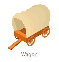 wagon icon isometric 3d style vector image vector image