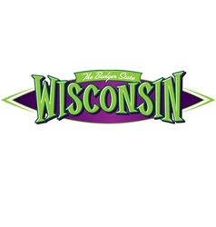 Wisconsin the badger state vector