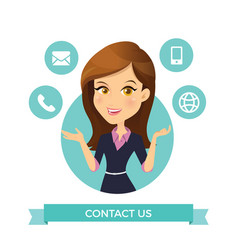 women contact us vector image