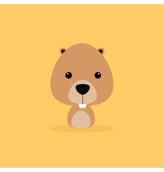 Cute cartoon wild beaver vector