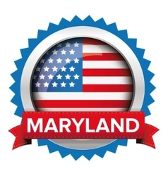 Maryland and usa flag badge vector