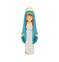 Mary cartoon of holy night design vector
