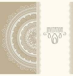 Vintage invitation vector