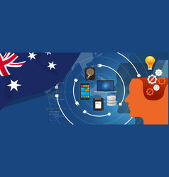 Australia it information technology digital vector