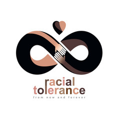 Racial tolerance between different nations vector