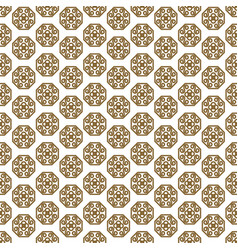 Japanese shapes seamless pattern in gold vector