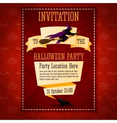 Banner invitation to the halloween party with vector