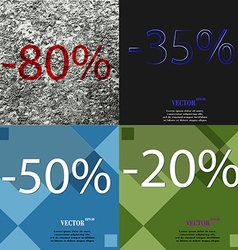 Set of holiday discounts store a percentage of vector