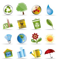 Realistic icon - ecology vector