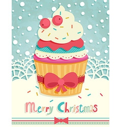 Funny christmas postcard vector