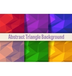 Triangle background pattern vector