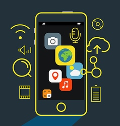 Modern mobile applications concept vector image