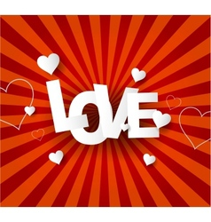 Love abstract background vector
