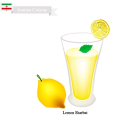 Lemon sharbat or iranian drink from lemon vector