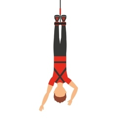 Bungy jumping isolated icon design vector