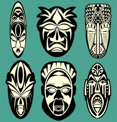 African Masks vector image vector image