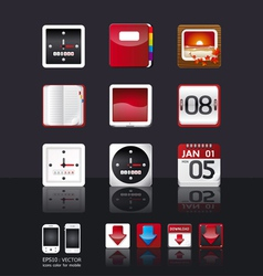 Apps icon set tablet mobile phone apps vector