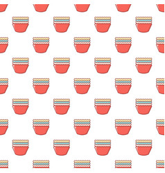 Baking molds pattern seamless vector