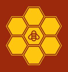 bee on honeycombs vector image
