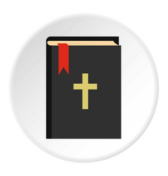 Bible icon circle vector