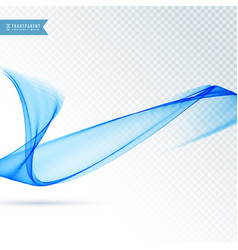Blue transparent wave background for presentation vector