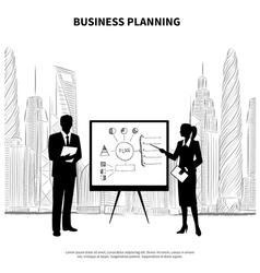 Business plan presentation vector