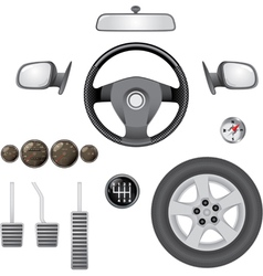 Car parts vector image vector image