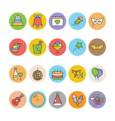 Celebration and Party Icons 2 vector image