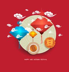 chinese lantern festival mid autumn full moon vector image vector image