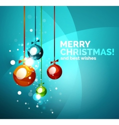Colorful bright shiny chrismas card vector