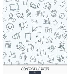 Contact us wallpaper Black and white vector image
