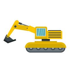 Excavator icon isolated vector