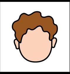 Face baby girl avatar icon vector
