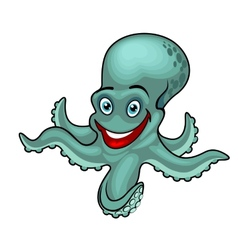 Funny octopus vector image vector image