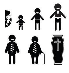 Human life icons vector image
