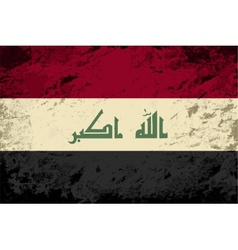 Iraqi flag Grunge background vector image vector image