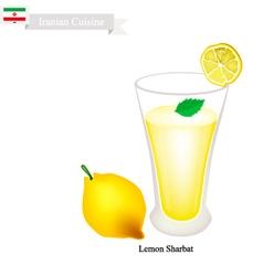 Lemon sharbat or iranian drink from lemon vector