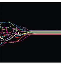 line twist vector image vector image