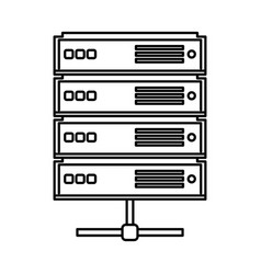 Network server isolated icon vector