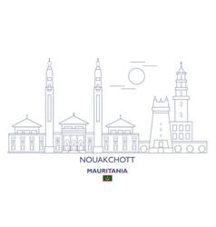 Nouakchott city skyline vector
