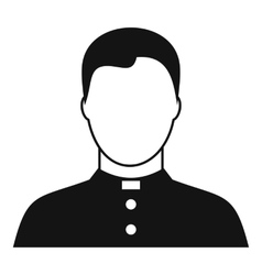 Pastor icon simple style vector