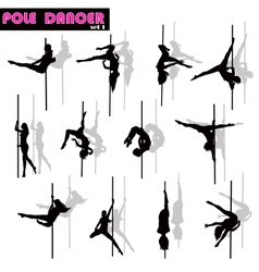 Pole dancer set vector image vector image
