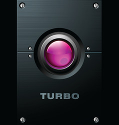 purple button vector image