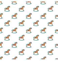 rocking horse pattern seamless vector image